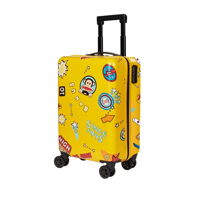 大嘴猴 拉杆箱学生行李箱男女儿童登机箱成人万向轮旅行箱 明亮黄 20寸 PFL031B