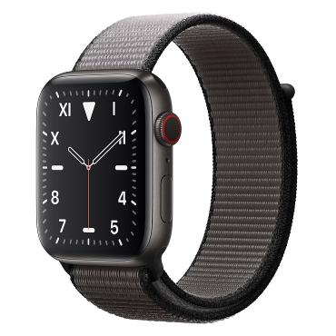 Apple Watch Edition深空黑色钛金属表壳;回环式运动表带 40 毫米(表带可选颜色:冰洋蓝色、铁锚灰、石榴色、卡其色、驼色、午夜蓝、彩虹色)