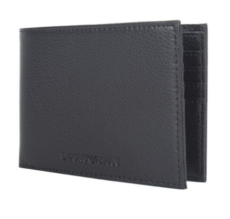 Armani阿玛尼黑色短款钱包