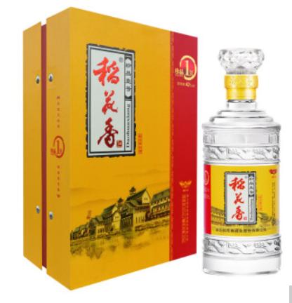 【湖北特产】稻花香白酒 42度浓香型500ml*4瓶 整箱