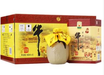 【北京特产】牛栏山 浓香型百年陈酿 52度  400ml*6瓶