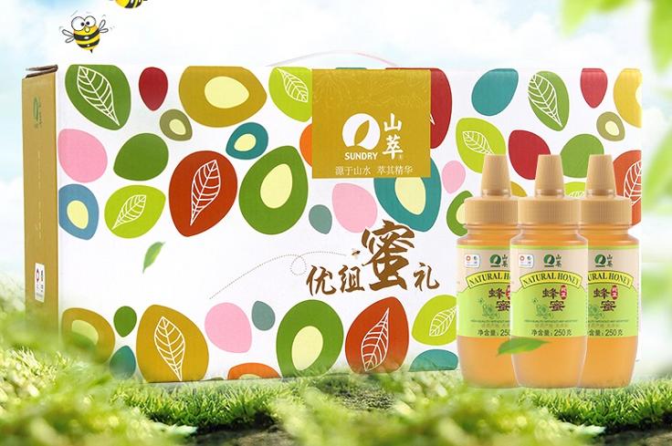 中粮山萃 蜂蜜礼盒优组蜜礼盒250g*5瓶装